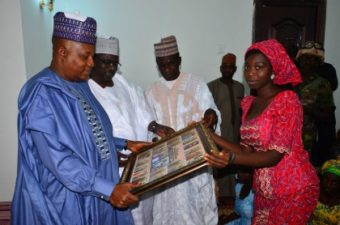 Governor Shettima spends Boxing Day with 21 freed #SchoolGirls, sleeps in Askira