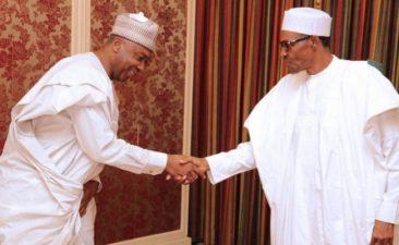 President Buhari felicitates with Saraki at 54