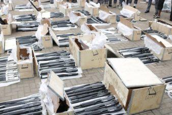 Customs intercept 661 pump-action rifles imported through Lagos port