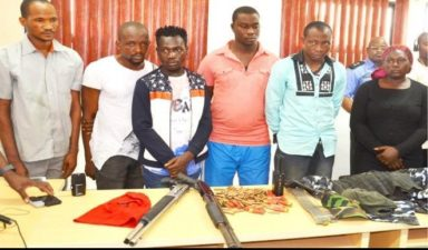 Police parades 6 suspected kidnappers of Bagudu Hirse, others