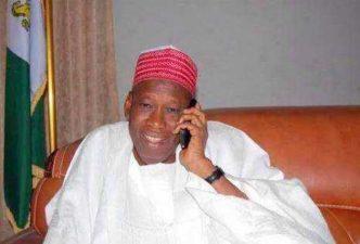 BREAKING: Buhari heard on speakerphone conversing with Governor Ganduje during special prayer session