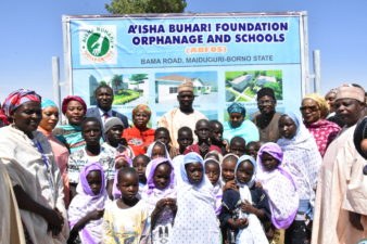 For the IDPs: Aisha Buhari kicks off construction of orphanage, school in Maiduguri