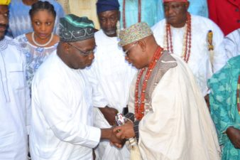 Deji of Akure visits ex-President Obasanjo, makes case for Akure in Federal appointments