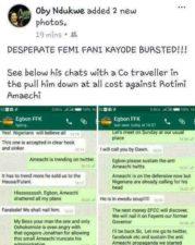 How captured whatsapp conversation exposed Femi Fani-Kayode/Fayose's Lere Olayinka's plot to link Amaechi to $50m Ikoyi Money