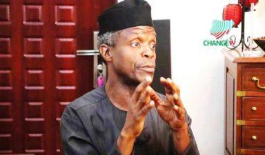 Prayers without hard work can't make Nigeria work, Acting President Osinbajo