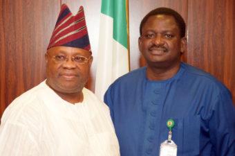 Senator Adeleke visits Villa, lauds Femi Adesina's maturity, clarity of messages to Nigerians