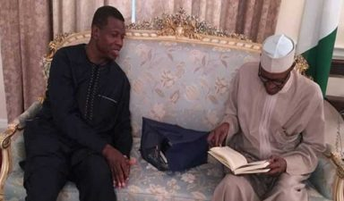 Photo News: Pastor Enoch A. Adeboye, General Overseer of Redeem Christian Church of God granted audience by President Muhammadu Buhari in Abuja House, London, Friday, day before the return of the King ripes
