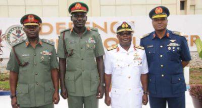 Service chiefs comply with directive, arrive Maiduguri