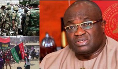 Curfew declared in Aba as IPOB confronts soldiers in Abia community, kills 3 in Oyigbo P'Harcourt
