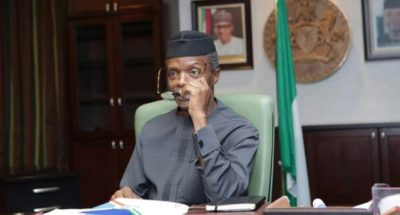 Contesting 2019 presidency not on table for me, Osinbajo declares