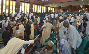 """Breaking News: Show of shame in Nigeria's House of Reps as lawmakers shout """"No! No!"""" to Buhari's notification of Budget presentation"""