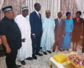 Imam Imam: The DEFENDER, Risk Management Institute pay condolence visit to Governor Tambuwal