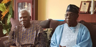Obasanjo visits Afenifere leader, Fasoranti