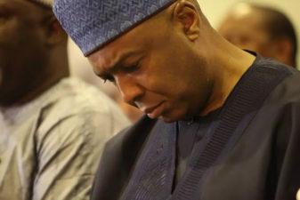 Saraki vs IGP: Senate delegation meets Buhari at Aso Rock