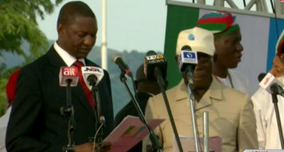 Oshiomhole takes oath as new APC National Chairman, says APC has achieved more than any party since 1999