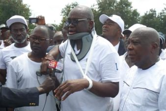#EkitiDrama: More facts unfold how Fayose stage-managed violence in Government House, tagged it against Nigerian Police