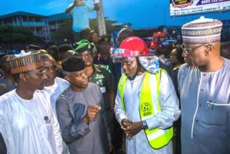 Abuja Collapsed Building: Relevant agencies will ensure operations, Osinbajo says at scene of incident