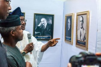 "Nigeria's Vice President, Osinbajo, declares open 2018 Independence Day Photo Exhibition, says event reminds of ""twists and turns"" of nation's history"