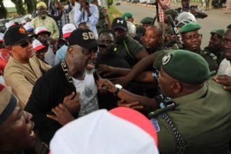 Attacks on Police: Violence, Childish theatrics by tree-climbing Senators, falsehood, propaganda won't earn you Nigerians' votes, APC warns PDP