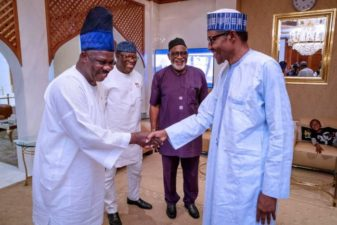 Post-Primary Issues: Buhari takes reconciliation's bull by horns, meets Governors Amosun, Akeredolu, Fayemi
