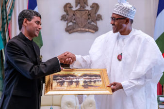 President Buhari lauds Nigeria, India relationship, as outgoing Envoy commends economic diversification of his Administration