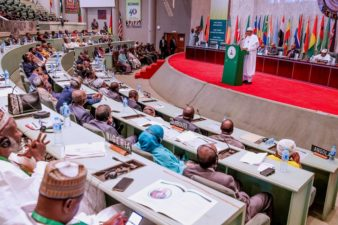 ADDRESS BY H.E MUHAMMADU BUHARI, PRESIDENT OF THE FEDERAL REPUBLIC OF NIGERIA, AT THE 73RD SESSION OF THE EXECUTIVE COMMITTEE AND 41ST CONFERENCE OF SPEAKERS OF NATIONAL PARLIAMENTS OF THE AFRICAN PARLIAMENTARY UNION