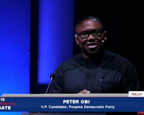 VP 2019 Debate: As long as we don't create jobs, there will be crisis – Peter Obi