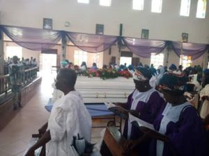 Burial ceremony of sister to Engr. Edmund Kaine, former DG, PRODA, Nigeria's Ministry of Science and Technology, Dr. Winifred Kaine, in Enugu
