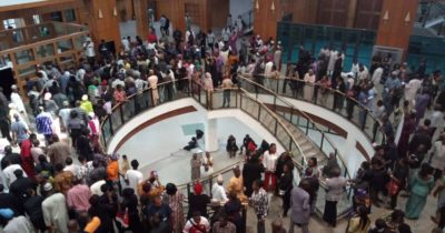 We'll find money to pay you, Saraki tells protesting NASS workers