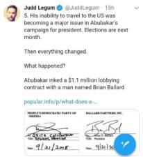"US Trip: Atiku's lodging in President Trump's hotel is ""Sakamanjay"" – Investigations reveal"