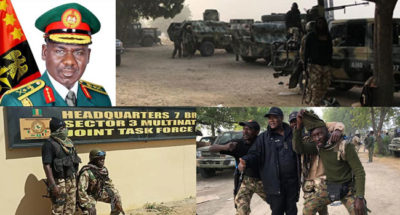 "Buratai commends troops for dislodging Boko Haram from Baga, says ""victory is near"""