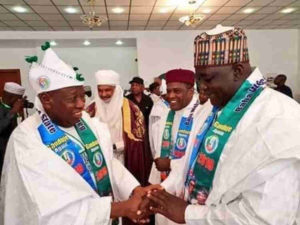 PDP reacts as Governors from Niger Republic attend Buhari's Kano rally