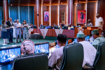 Fighting corruption one of 3 point agenda I promised Nigerians, Buhari says as he swears in new ICPC Chairman, board members
