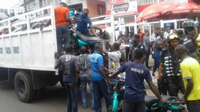 Comply with traffic regulations or face the law, Lagos Task Force orders 'GOKADA', 'MAXOKADA' operators