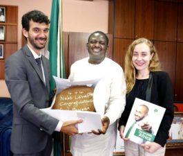 Cheers as PENRESA presents Buhari Next Level Cake in State House