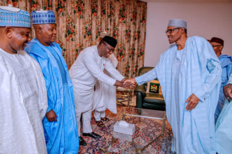 Buhari parleys with 7 APC governors in State House