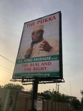 Atiku disowns, but his Campaign Group defends post-election 'Pukka' billboards, posters in Abuja, Yola, silent on US lobby