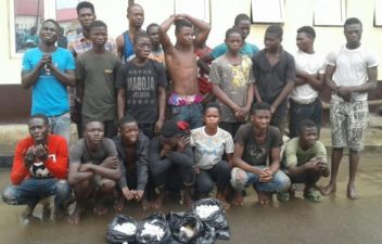 Lagos Task Force arrests 26 Awawa cult gang members, 64 hoodlums