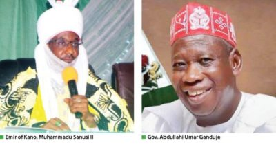 """Emir of Kano, Sanusi, replies to Governor Ganduje's query, says """"I met only N1.8b, not N3.4b"""""""