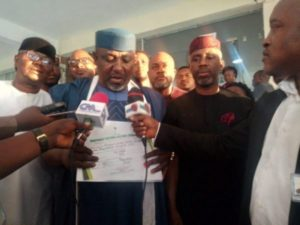 INEC finally bows to Court's order, issues Okorocha Senate Certificate of Return but plans appeal