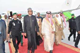 PHOTO: President Buhari on arrival in Makkah for OIC Summit