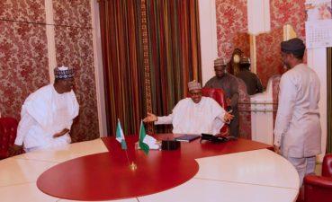 Photo News: Buhari meets Lawan, Gbajabiamila at State House