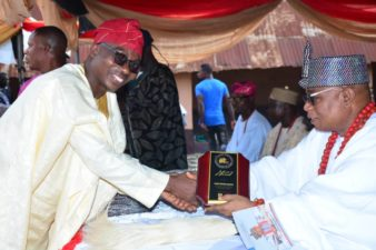 Excitement as Deji of Akure honours Bashir Adefaka, Bisi Adeniyi, Jimoh Ibrahim, Abiodun Ayodele, others