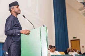 Regulating religions not necessarily way to go, religious leaders waking up to their duties is it, Nigeria's Vice President Osinbajo says at Abuja's UAE organized inter-faith forum