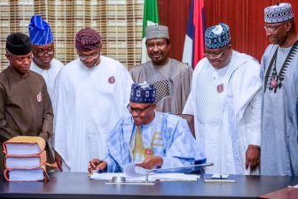 Speech by his Excellency, Muhammadu Buhari, President of the Federal Republic of Nigeria, at the signing into law of the 2020 Appropriation Bill. Presidential Villa, Abuja, on Tuesday, December 17, 2019