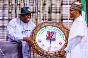 President Buhari meets health sector workers union, urges restraint in their demand