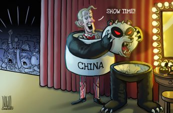 """Photo: US is trying to """"demonize"""" China, by Luo Jie"""