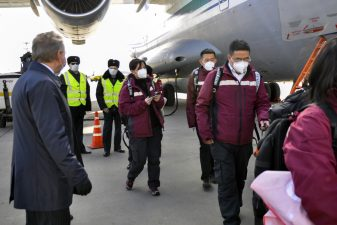 Chinese medical team arrives in Moscow