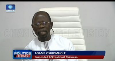Oshiomhole speaks on APC crisis, says Giadom not member of NWC