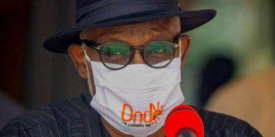 Ondo Governor, Akeredolu, tests positive for Coronavirus, works from home